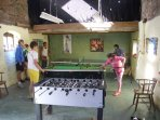Indoor play barn with pool table and table tennis