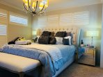 Main bedroom with Luxurious Super King Bed