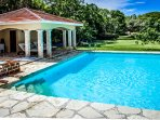 Big clean pool is right near your villa so that YOU can swim here whenever you want to