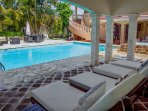 You will have an access to this private pool,  lounge chairs and outdoor patio