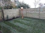 Enclosed lawn area