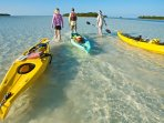 Kayaking is a popular excursion locally, we have lots of maps and guides