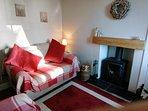 Lounge with log burner TV/DVD SKY and wifi