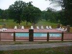 Community pool open during pool season