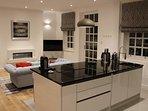 open plan kitchen / diningroom