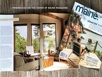 Maine magazine's editor enjoyed her stay so much she wrote a cover story about about the house.