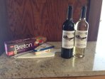 Complimentary wine, cheese and crackers upon your arrival.