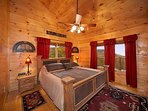 Second Floor Bedroom with King Bed and Ensuite Bath at True Grit