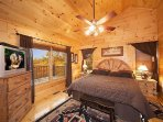 First Floor Bedroom with King Bed and Jacuzzi at True Grit