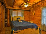 No matter which room you choose to retire to, you'll drift effortlessly to sleep under the exposed beam ceilings.