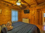 This bedroom is conveniently located just steps from the main living area.