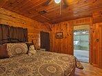 With an en-suite bathroom, the master bedroom feels like a luxury hotel room.