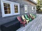 Plenty of places to sit and relax on the huge wrap around deck.