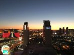 Spectacular View of The Sunrise Over The Strip
