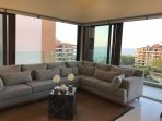 living room with an amazing view