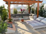 Roof terrace with Weber BBQ and great views of Meia Praia beach.