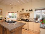 Kitchen with Aga and electric oven