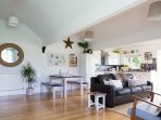 Open-plan lounge and kitchen/diner