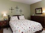 Main floor bedroom w/queen