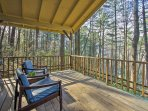 Soak up your tranquil surroundings on the covered deck.