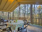 Enjoy your meals with a view on the expansive deck.