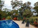 Swimming pool set above Secret Beach