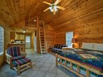 This vacation rental offers a rustic-yet-comfortable place to call home.