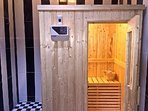 private three person sauna