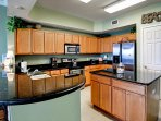 Full kitchen has all the conveniences of home.