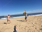 Kids can play all day on wide open spacious beach!