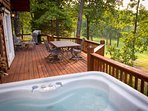 Enjoy your private hot tub with a view