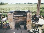 Our rustic BBQ facilities at Clopton Courtyard