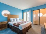 The upstairs bedroom is a great get-away