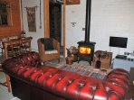 Sitting area with woodburner