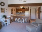 Small dinette set or bar seating for meal time
