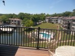 Another view of the cove pool from the balcony