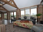 Sit back and enjoy the views in this cosy lounge