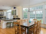 The dining table seats 8 and there are 2 stools at the breakfast bar - 29 Bellamy Lane North Chatham Cape Cod - New...