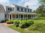 Front porch and lovely landscaping - 29 Bellamy Lane North Chatham Cape Cod - New England Vacation Rentals