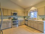Whip up some 5-star fare in the large, fully equipped kitchen.