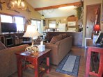 Central heating and cooling makes this cabin a comfortable experience all year.