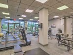 If you need another workout after kayaking up the coast, be sure to utilize the community fitness center.