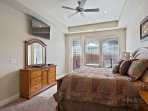 Master Bedroom Main Level with King Bed/TV