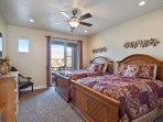 Bedroom 3 - 2 Queen Beds/TV/Private deck access