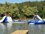 Etang de Coucou to swim, relax, and watch the kids play