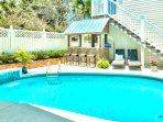 Poolside Bar with Grill, Heated Pool