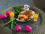 Spoil yourself with perfectly prepared fresh breakfast at the uppoer sea view terrace