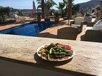 enjoy a tapas at the outdoor kitchen bar
