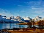 Arrochar Alps from Loch Arklet in Winter