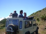 Me doing jeep tours with my guests in a convertible Classic UMM 29 years old :) ...are you brave eno